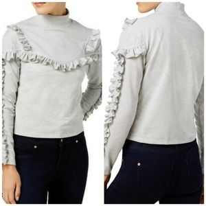 {L} Buffalo David Bitton Ripley Ruffled Sweatshirt
